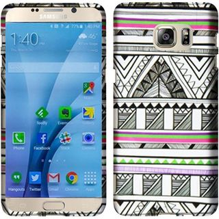 Insten Black/ White Antique Aztec Tribal Hard Snap-on Rubberized Matte Case Cover For Samsung Galaxy S7