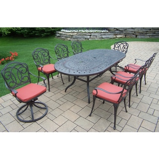 Berkley Collection Cushioned Aluminum Outdoor Patio Dining Set (9 Piece Set)