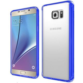 Insten Hard Snap-on Dual Layer Hybrid Crystal Bumper Frame For Samsung Galaxy Note 5