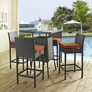 Stopover Synthetic Rattan Outdoor Patio Pub Set (5 Piece Set)