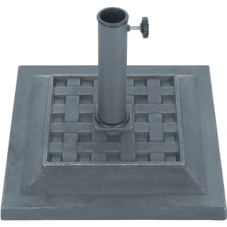 "Trademark Innovations Grey Finish Square Resin Umbrella Base (17.3""X 17.3"")"