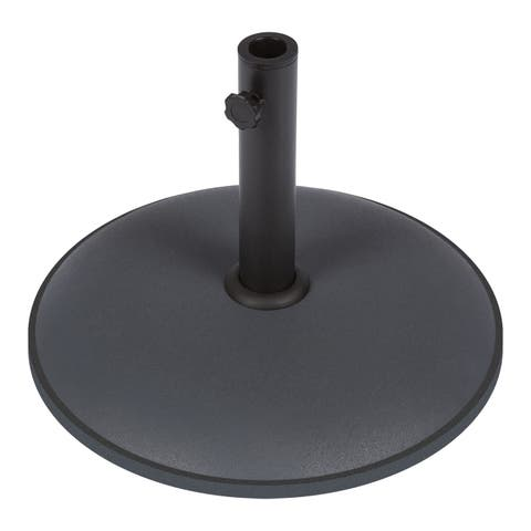Trademark Innovations Sturdy Grey Cement Umbrella Base