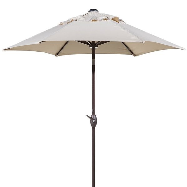 Abba 7 5 Foot Round Outdoor Push On Tilt And Crank Patio Umbrella