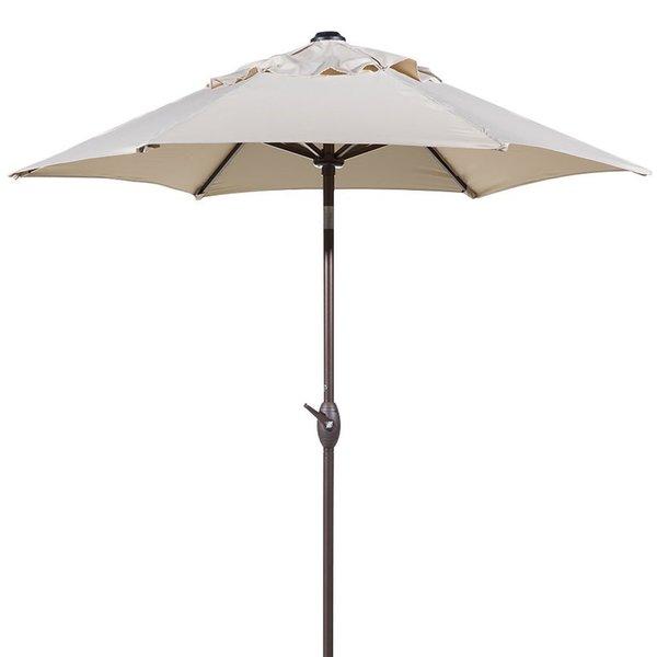 Havenside Home Aillik 7.5-foot Round Outdoor Push Button Tilt and Crank Patio Umbrella