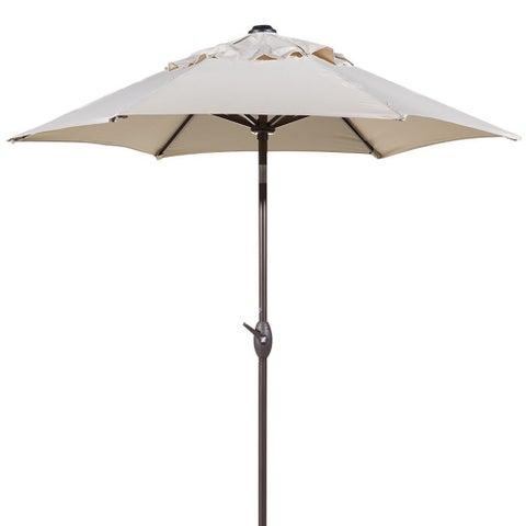 Abba 7.5 Foot Round Outdoor Push Button Tilt and Crank Patio Umbrella