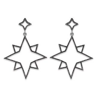 Olivia Leone 1.47 Carat Genuine Black Spinel .925 Sterling Silver Earrings