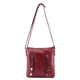 Bridget Double Zipper Crossbody Bag by Mia K. Farrow