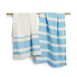 Handmade Sustainable Threads Bellaire Cotton 2-piece Tea Towel Set (India)