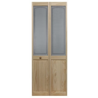 AWC 847 Litho Glass 36-inch x 80.5-inch Unfinished Bifold Door