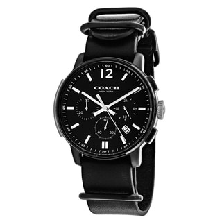 Coach Men's 14602021 Bleecker Round Black Strap Watch