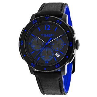 Coach Men's 14602023 Classic Round Black Strap Watch|https://ak1.ostkcdn.com/images/products/11684771/P18611032.jpg?impolicy=medium
