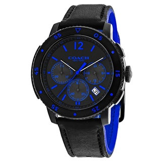 Coach Men's 14602023 Classic Round Black Strap Watch