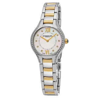 Raymond Weil Women's 5127-SPS-00985 'Noemia' Mother of Pearl Dial Two Tone Stainless Steel Diamond Swiss Quartz Watch