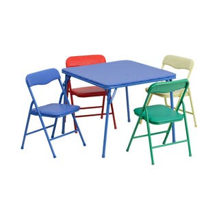Kids 5 Piece Lightweight Folding Table and Chairs|https://ak1.ostkcdn.com/images/products/11684798/P18611026.jpg?impolicy=medium