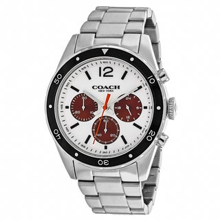 Coach Men's 14602033 Classic Round Silver Bracelet Watch