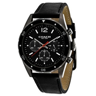 Coach Men's 14602039 Classic Round Black Strap Watch