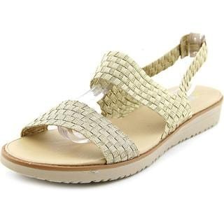 Easy Spirit e360 Women's 'Talini' Basic Gold Textile Sandals