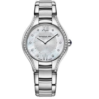 Raymond Weil Women's 5127-STS-00985 'Noemia' Mother of Pearl Dial Stainless Steel Diamond Watch|https://ak1.ostkcdn.com/images/products/11684826/P18611126.jpg?impolicy=medium