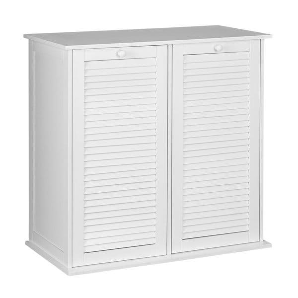 Household Essentials White Shutter Front Tilt-out Cabinet
