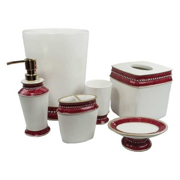 Sherry Kline Victoria Jewel 6 Piece Bath Accessory Set (4 Color Options)