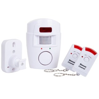 Everyday Home Wireless Motion Sensor Alarm with 2 Wireless Remotes