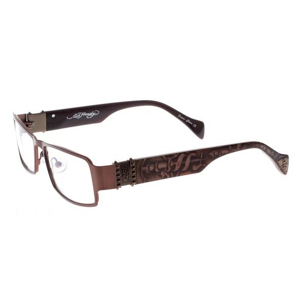 2a0ce29868 Shop Ed Hardy EHO-734 Satin Brown Designer Eyeglasses - Free ...