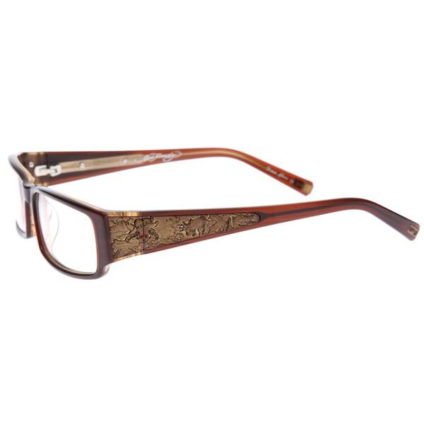 07a2e96a6f Shop Ed Hardy EHO-724 Hazel Designer Eyeglasses - Free Shipping ...