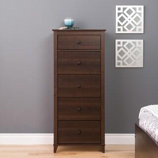 5 Drawer Dresser in Dark Brown