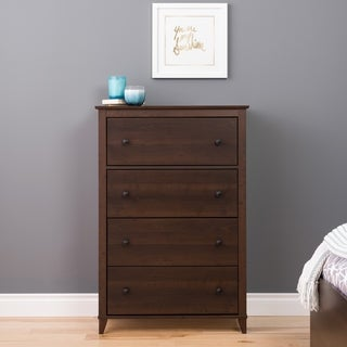 4 Drawer Dresser in Dark Brown