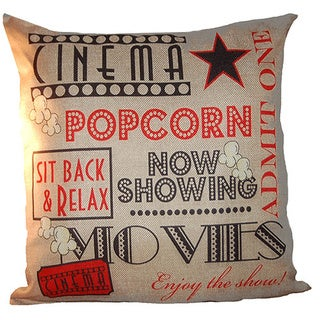 lillowz popcorn theater canvas full sized throw pillow 17 x 17