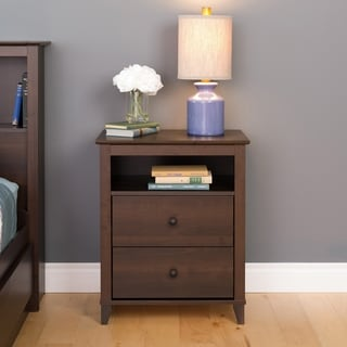 2 Drawer Accent Table in Dark Brown