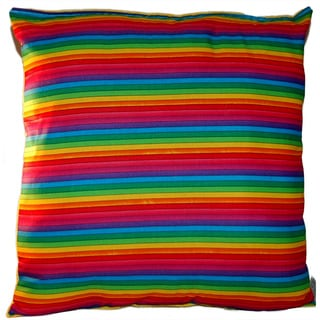 Lillowz Rainbow Pride Reversible 14 inch x 14 inch Medium Sized Throw Pillow