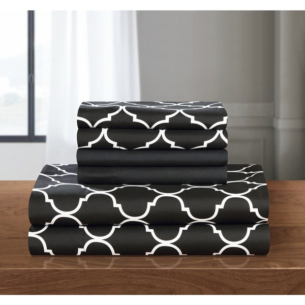 Chic Home 6-piece Black Tymon Sheet Set