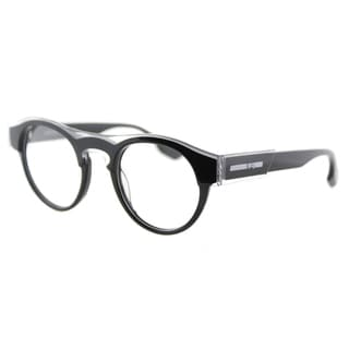 McQ MQ 0005O 001 Crystal Black Plastic Round 45mm Eyeglasses