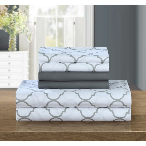 Chic Home 6-piece Grey Tymon Sheet Set
