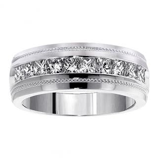 Platinum Men's 1ct TDW Diamond Princess-cut Ring|https://ak1.ostkcdn.com/images/products/11685124/P18611241.jpg?impolicy=medium