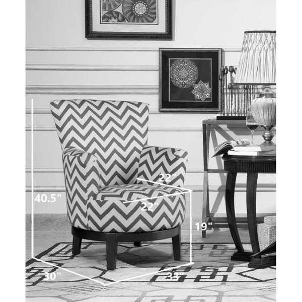 Brilliant Shop Swivel Accent Chair With Blue And White Chevron Pattern Theyellowbook Wood Chair Design Ideas Theyellowbookinfo