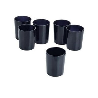 Black Frosted Glass Round Votive Candle Holders (Set of 72)