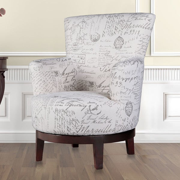 Swivel Accent Chair with Calligraphy Pattern & Shop Swivel Accent Chair with Calligraphy Pattern - Free Shipping ...