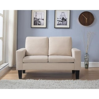 Microfiber Loveseat in Beige