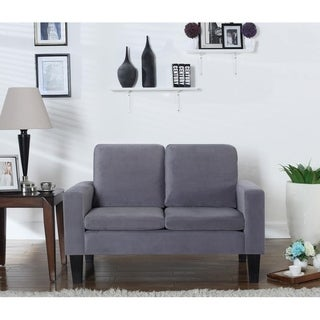 Microfiber Loveseat in Grey