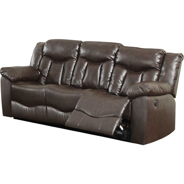 Bonded Leather Sofa With 2 Reclining Seats By Nathaniel Home