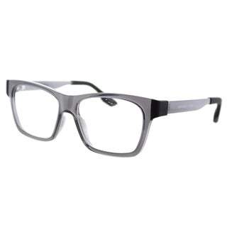 McQ MQ 0015O 001 Transparent Grey Plastic Rectangle 52mm Eyeglasses