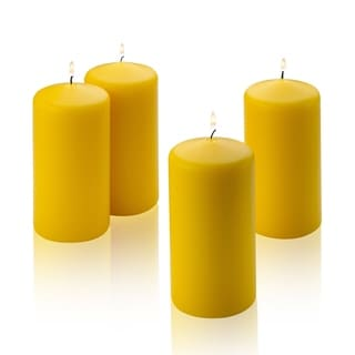 Yellow Citronella Scented Pillar Candle