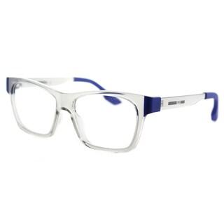 McQ MQ 0015O 002 Crystal Plastic Rectangle 52mm Eyeglasses