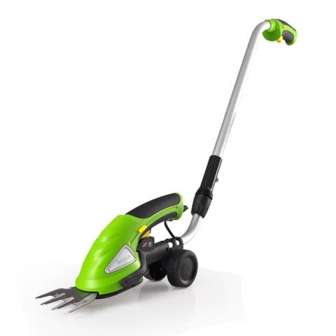 SereneLife PSLGTM30 Cordless Electric Handheld Hedge Trimmer with Changeable Blades