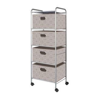 Tan 4-Drawer Fabric Cart|https://ak1.ostkcdn.com/images/products/11685325/P18611478.jpg?impolicy=medium