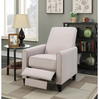 Linen Push Back Recliner in Beige