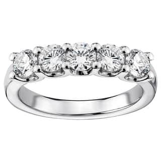 Platinum 1ct TDW Diamond 5-stone Wedding Band|https://ak1.ostkcdn.com/images/products/11685342/P18611488.jpg?impolicy=medium