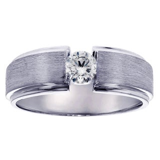 Platinum Men's 2/5ct TDW Diamond Wedding Ring (G-H, SI1-SI2)